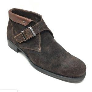 Men's Bacco Bucci Monk Strap Chukka Boots Sz 11M